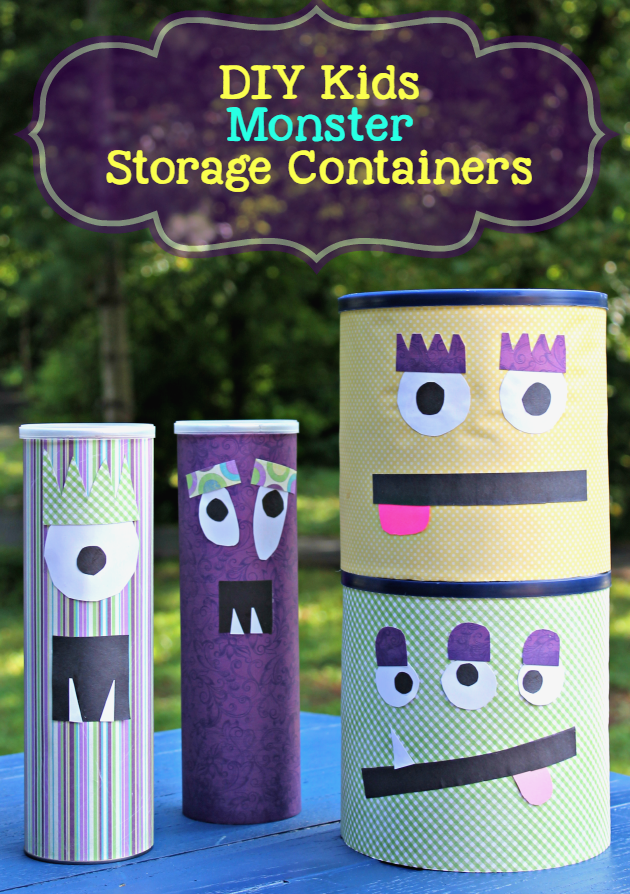 Hacks For Organizing Kids Rooms DIY Monster Storage Containers