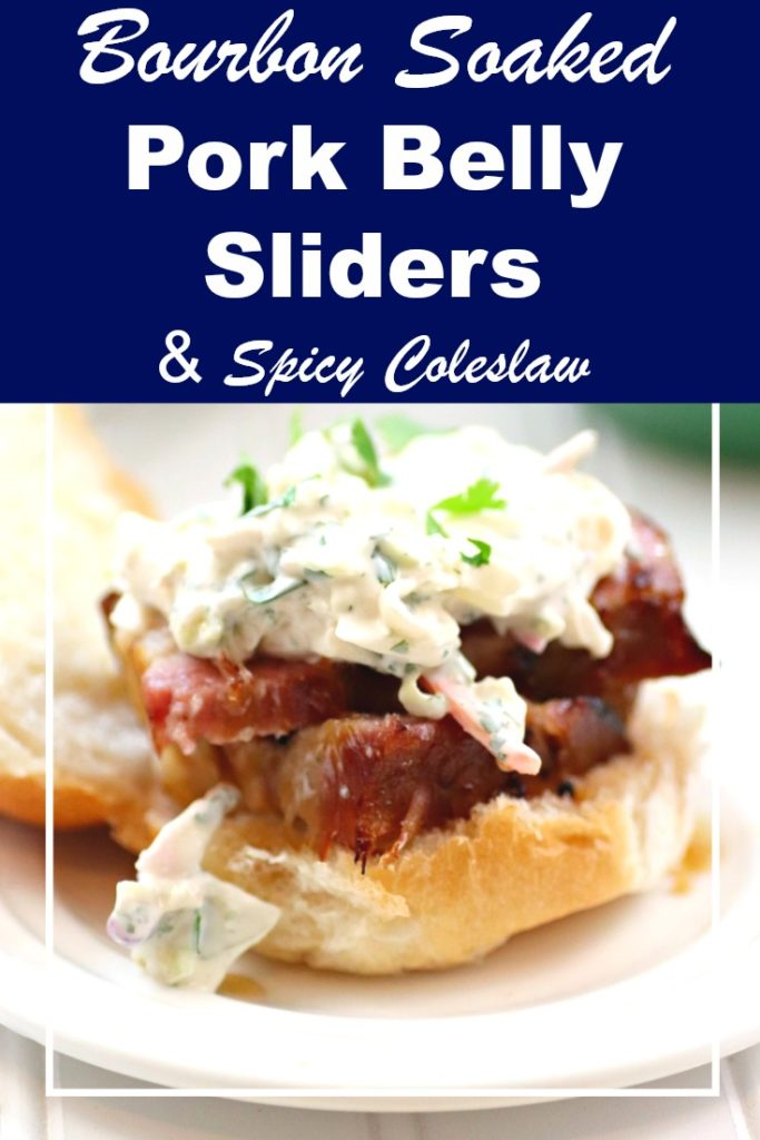 On game day, my Bourbon Soaked Pork Belly Sliders With Spicy Coleslaw Recipe always score a touchdown! #ad #Nexium24HrGameReady
