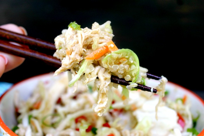 Asian Quinoa Chicken Salad Bowl