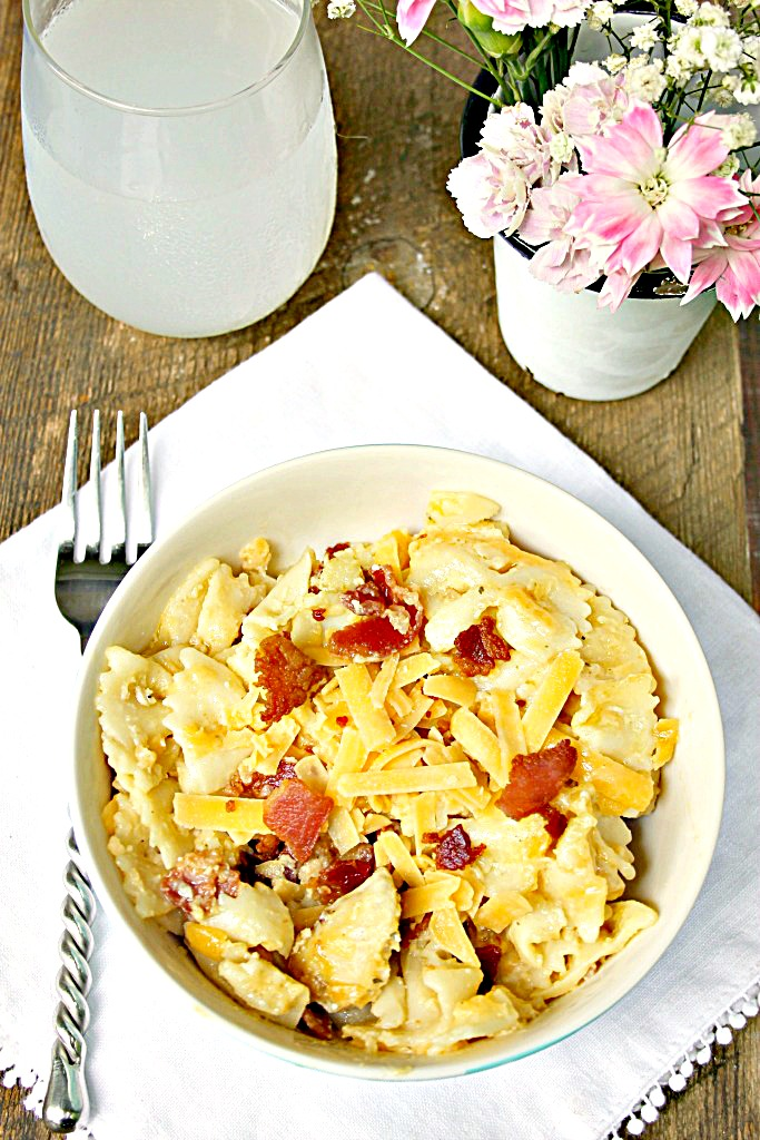Instant Pot Chicken Bacon Ranch Pasta Recipe